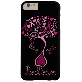 De roze Liefde van de Voorlichting van Kanker van Barely There iPhone 6 Plus Hoesje