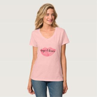 De roze Lippen van de Waterverf T Shirt