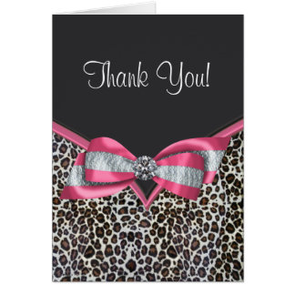 De roze Luipaard dankt u Kaarten