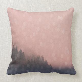 De roze Mist van het Landschap van de Bomen van de Sierkussen