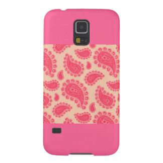 De roze Mobiele Dekking van de Melkweg van Paisley Hoesje Voor Galaxy S5