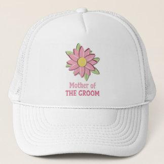 De roze Moeder van de Bloem van de Bruidegom Trucker Pet