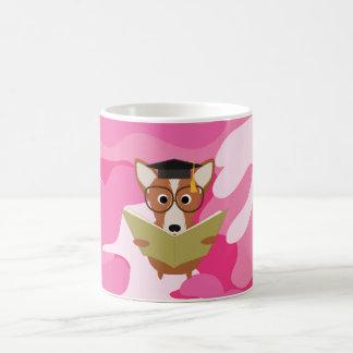 De roze Mok van de Hond van de Studie Camo Koffiemok