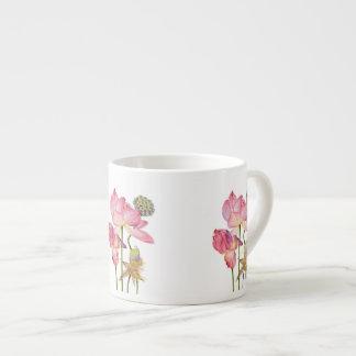 De roze Mok van de Koffie van de Stam van Lotus