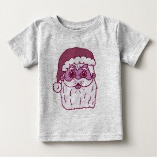 De roze Monotone Kerstman Baby T Shirts