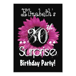 De roze Naam van de Douane van de Verjaardag van 12,7x17,8 Uitnodiging Kaart