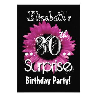 De roze Naam van de Douane van de Verjaardag van d Persoonlijke Aankondiging