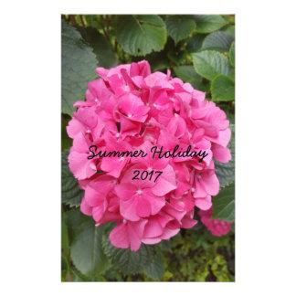 De roze Natuur van de Fotografie van de Bloem Briefpapier