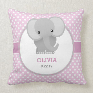 (De roze) Olifant van het baby Sierkussen