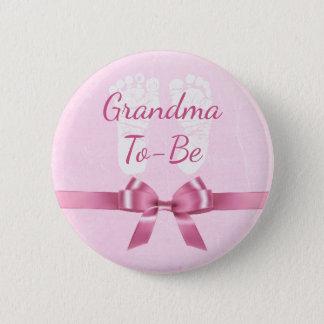 De roze Oma van de Boog om de Knoop van het Baby Ronde Button 5,7 Cm