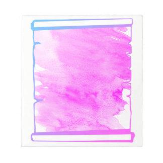 De roze Ontwerper van de Rol van de Waterverf van Notitieblok
