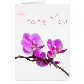 De roze Orchidee dankt u kaardt Briefkaarten 0