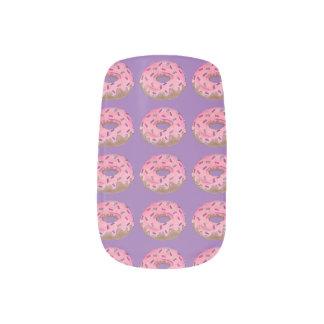 De roze Paarse Doughnut van de Doughnut met Minx Nail Folie