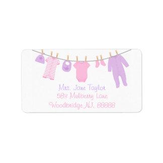 De roze & Paarse Kleine Etiketten van het Baby