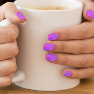 De roze/Paarse Spijkers van het Patroon van de Minx Nail Folie