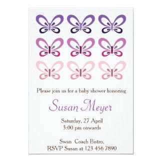 De roze Paarse uitnodiging van Babyshower van de