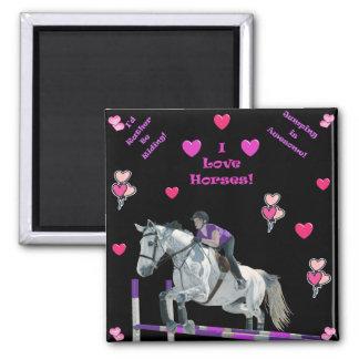 De roze & Paarse Verbindingsdraad van het Paard Magneet