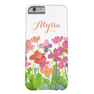 De roze Paarse Waterverf van de Perzik bloeit Barely There iPhone 6 Hoesje