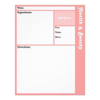 (De Roze) Pagina's van het recept Flyer 21,6 X 27,9 Cm