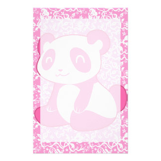 De roze Panda van de Cartoon Briefpapier