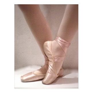 De roze Pantoffels van het Ballet Briefkaart