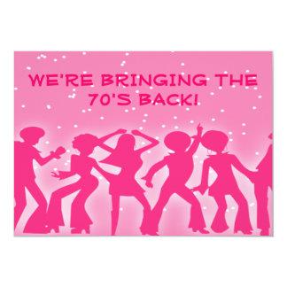 De roze Partij van de jaren '70 van het Thema van Kaart