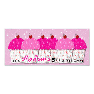 De roze Partij van de Verjaardag van de Liefde 10,2x23,5 Uitnodiging Kaart