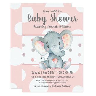 De roze Pastelkleur stippelt het Leuke Baby shower Kaart