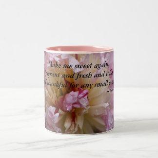 De roze Pioen… maakt opnieuw me snoepje Tweekleurige Koffiemok