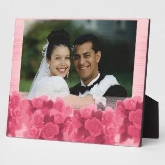 De roze Plaque van de Foto van Rozen Fotoplaat