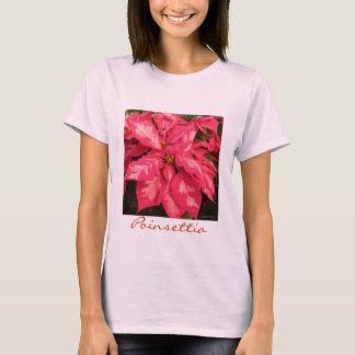 De Roze Poinsettia van de pepermunt T Shirt