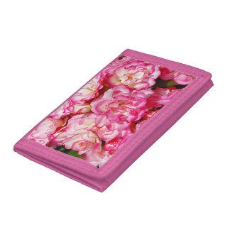 De roze portefeuille van de rozen bloemendruk