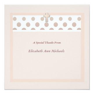 De roze Punt dankt u Notecard Kaart