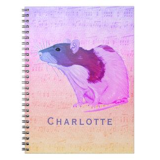 De roze Rat van het Huisdier voegt Uw Rat van de Notitieboek