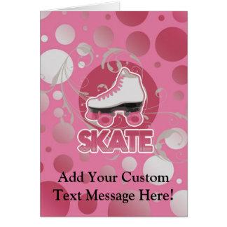 De roze Rolschaats van de Werveling van de Bel, Wenskaart