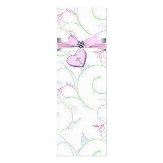 De roze Roze DwarsLabels Bomboniere van het Hart S Visitekaartjes