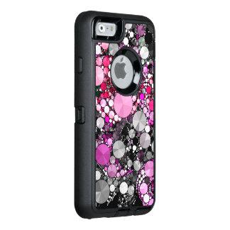 De Roze Samenvatting Bling van Girly OtterBox Defender iPhone Hoesje