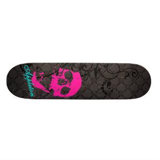 De roze schedel van Appleton 21,6 Cm Skateboard Deck