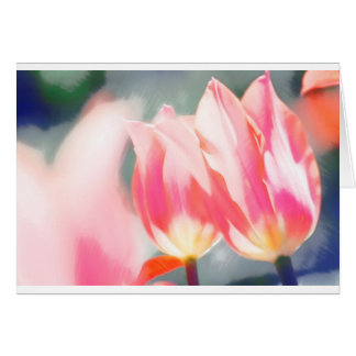 De roze Schets van het Duo van de Tulp Kaart