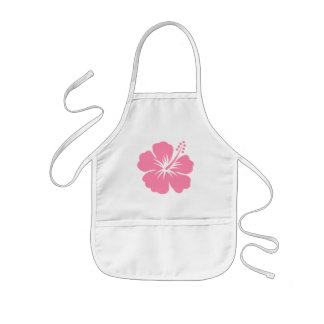 De roze Schort van de Hibiscus Y
