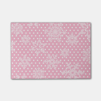 De roze Sneeuwvlokken van de Vakantie Post-it® Notes