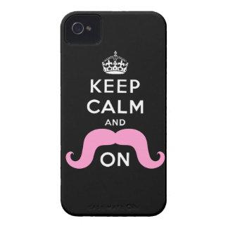De roze Snor houdt Kalm draagt iPhone 4 Hoesje