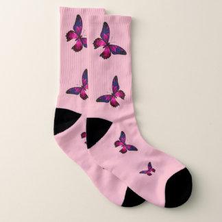 De roze Sokken van de Vlinder, (Vrouwen Grote Sokken