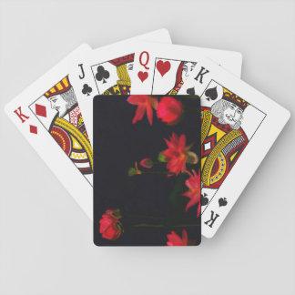 De roze Speelkaarten van de Bloemen van Lotus