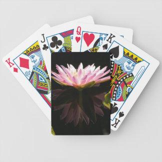 De roze Speelkaarten van Lotus Waterlily van de Pak Kaarten