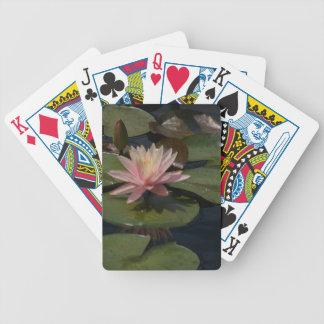 De roze Speelkaarten van Waterlilies Lotus Bicycle Speelkaarten