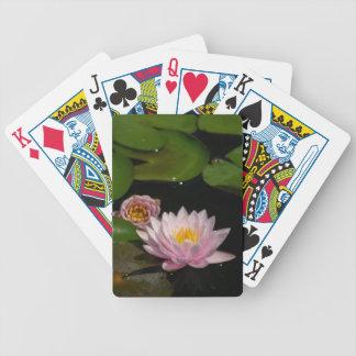 De roze Speelkaarten van Waterlilies Lotus Poker Kaarten