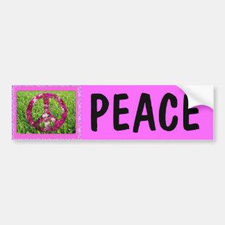 De roze Sticker van de Bumper van de Vrede Bumpersticker