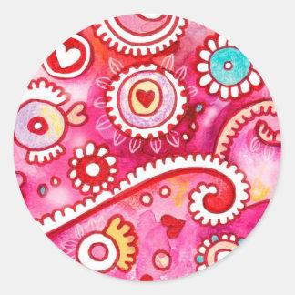 De roze Sticker van de Droom