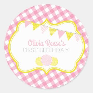 De roze Sticker van de Partij van de Limonade